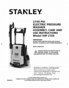 Stanley SHP2150 Operating Manual
