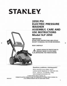 STANLEY SLP2050 Operating Manual